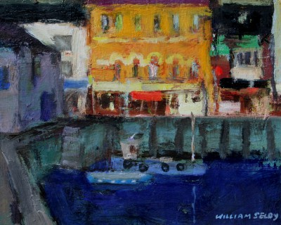 British Artist William SELBY - Inner Harbour, Brixham