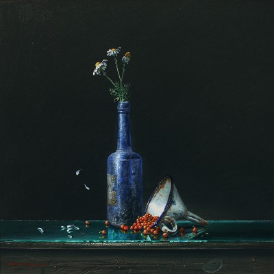 British Artist Bryan HANLON - Enameled Funnel and Red Currants II