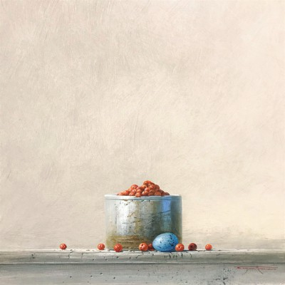 British Artist Bryan HANLON - Berries and Thrush Egg II