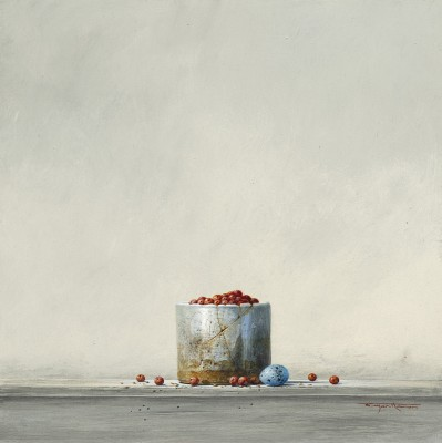 British Artist Bryan HANLON - Berries and Thrush Egg