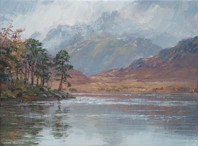 British Artist Mark PRESTON - Calm Reflections, Blea Tarn