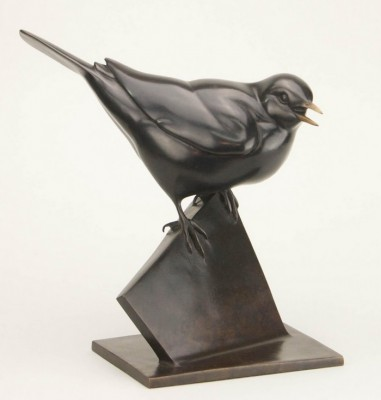 Sculpture and Sculptors Artist Carl LONGWORTH - Black Bird (Edition 9/25)