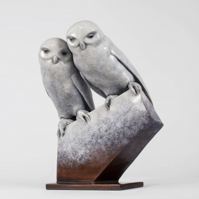 Sculpture and Sculptors Artist Carl LONGWORTH - Little Owls (Edition 11/25)