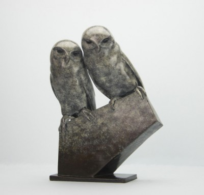 Sculpture and Sculptors Artist Carl LONGWORTH - Little Owls (Edition 16/25)