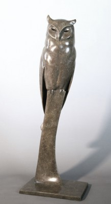Sculpture and Sculptors Artist Carl LONGWORTH - Long Eared Owl (Edition 10/25)