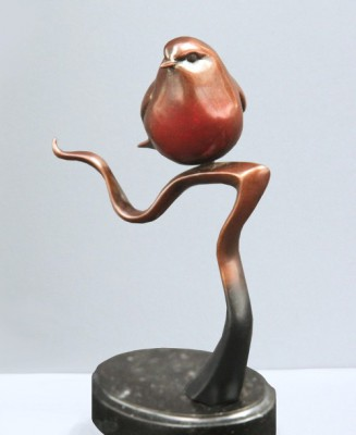 Sculpture and Sculptors Artist Carl LONGWORTH - Robin (Edition AC)
