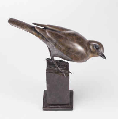 Sculpture and Sculptors Artist Carl LONGWORTH - Song Thrush (Edition 5/25)