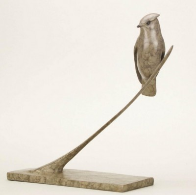 Sculpture and Sculptors Artist Carl LONGWORTH - Waxwing (Edition 8/25)