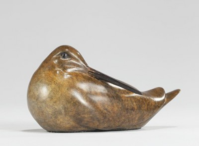 'Woodcock Preening - mini (1/175) ' sculpture