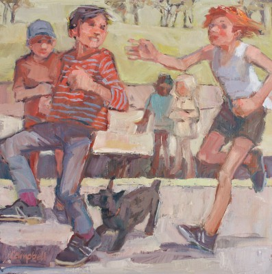 'Children in the Park' painting