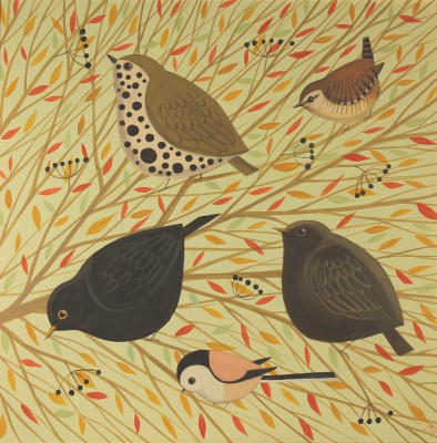 Catriona HALL - Birds in Branches
