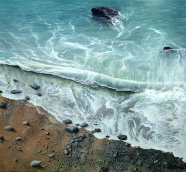 Limited Edition Prints Artist Ceri Auckland Davies - Shoreline Surf