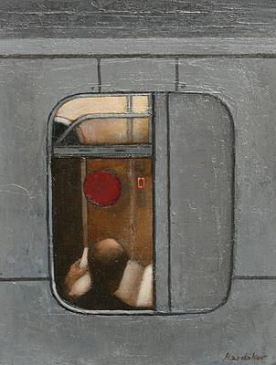 British Artist Charles HARDAKER - The Tube - Reader
