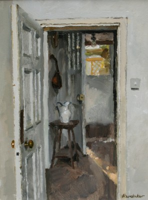 British Artist Charles HARDAKER - Open Doors Early Morning Light