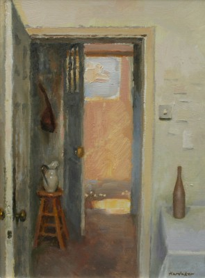 British Artist Charles HARDAKER - Interior with Bottle