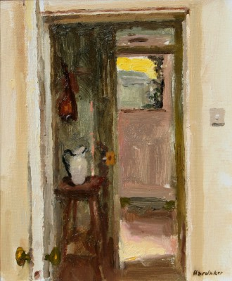 British Artist Charles HARDAKER - Evening Door