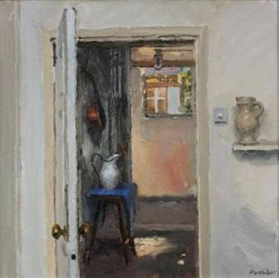 British Artist Charles HARDAKER - Open Doors Gleam of Sunlight