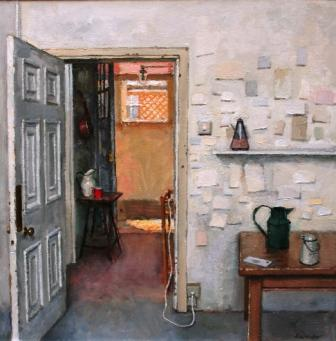 British Artist Charles HARDAKER - Interior with Objects