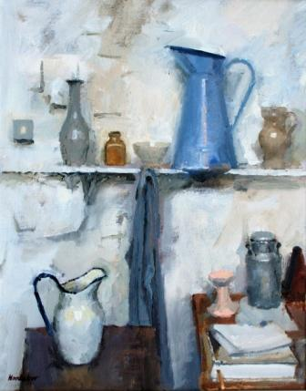 British Artist Charles HARDAKER - Still Life on Three Levels