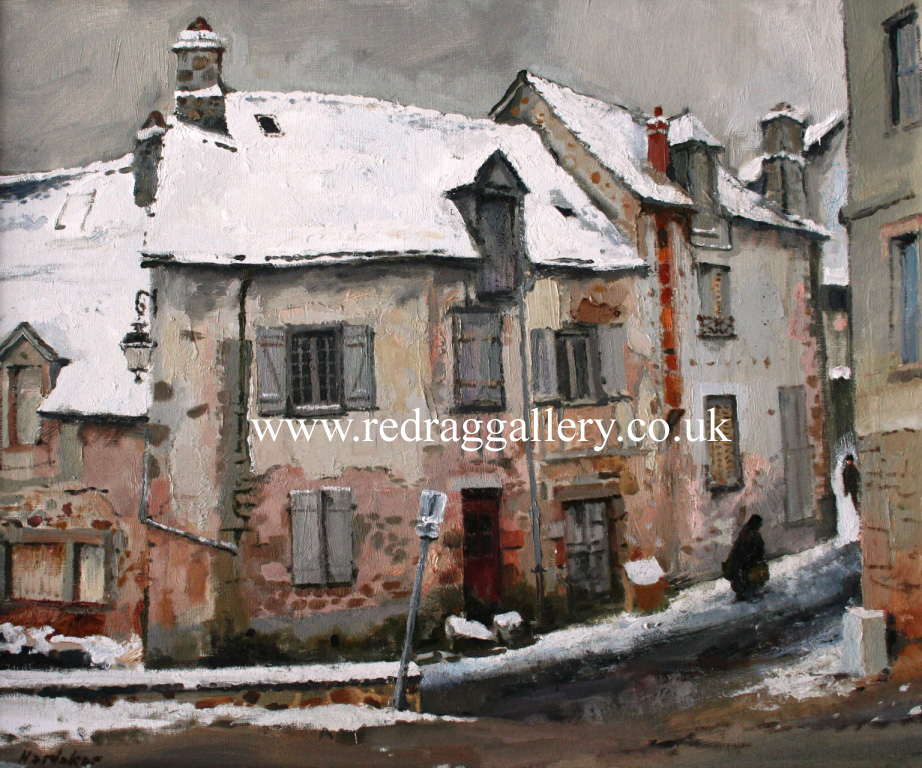 Old Houses, France by British Contemporary Artist Charles