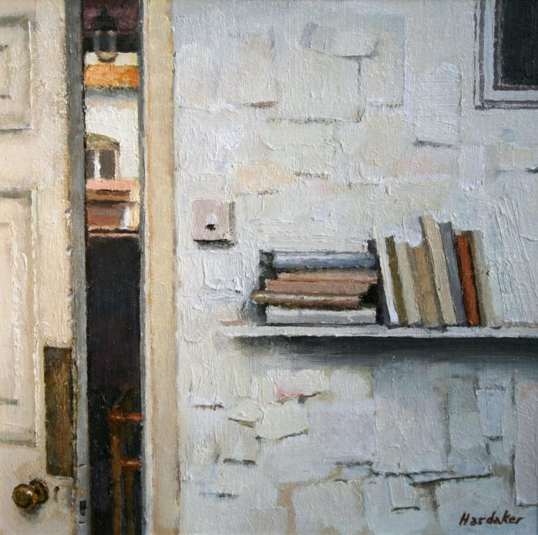 Charles HARDAKER - Interior with Books on a Shelf
