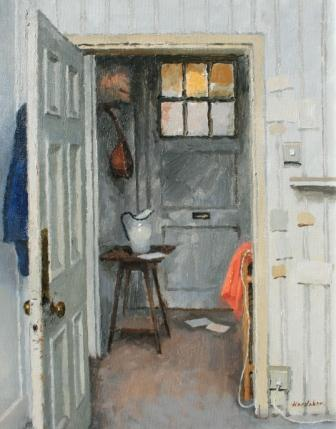 Charles HARDAKER - Interior - Blue and Orange with Letters