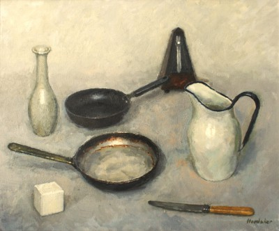 Charles HARDAKER - Still Life with Frying Pans