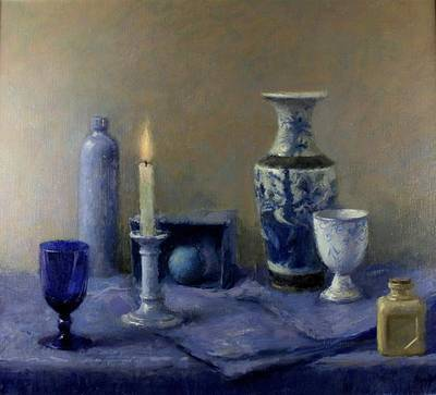 British Artist Charles HARDAKER - Still Life with Candle