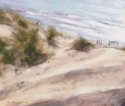 British Artist Chris DAYNES - Dunes at Camber, Sussex