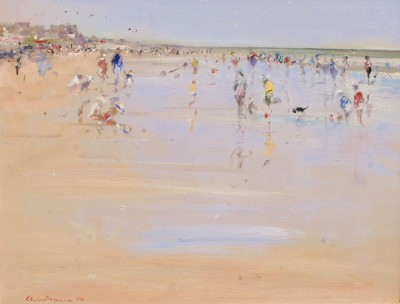 British Artist Chris DAYNES - March Sunlight, Camber