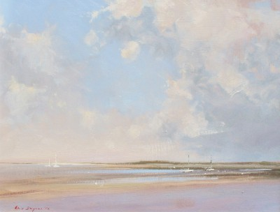 British Artist Chris DAYNES - The Marshes, North Norfolk