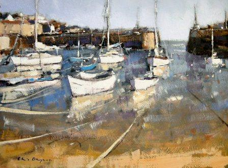British Artist Chris DAYNES - Mousehole