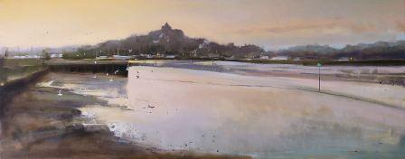 British Artist Chris DAYNES - Last Light at Rye