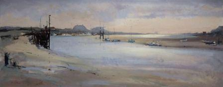 British Artist Chris DAYNES - Flood Tide at Rye Harbour