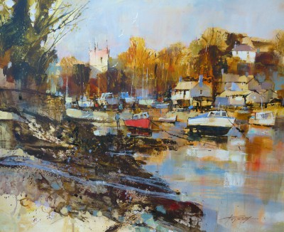 British Artist Chris FORSEY - Evening Sunshine, St Anthony in Meneage