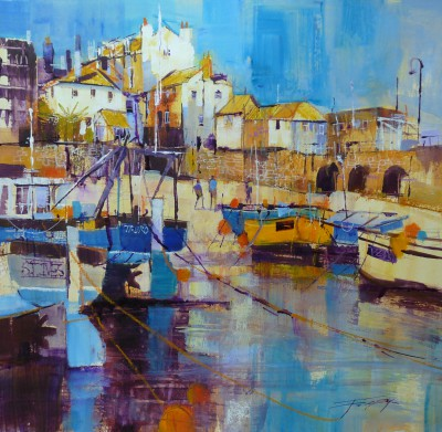 Reflecting Summer, St Ives painting by artist Chris FORSEY