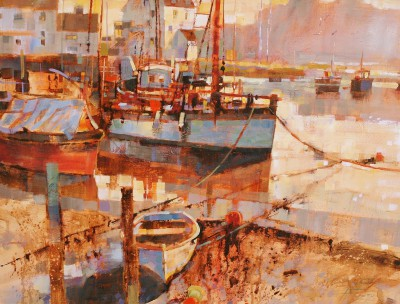 British Artist Chris FORSEY - Mist in the Morning, Woodbridge