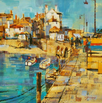 British Artist Chris FORSEY - Harbourside, St Ives