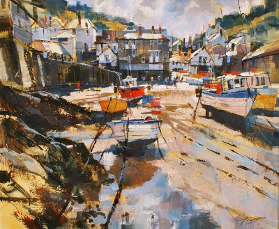 British Artist Chris FORSEY - Port Isaac, July Morning
