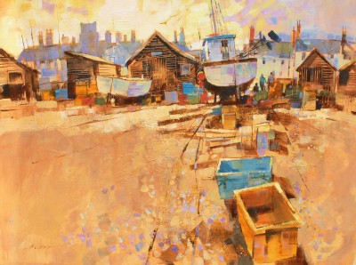 British Artist Chris FORSEY - Top of the Beach, Aldeburgh