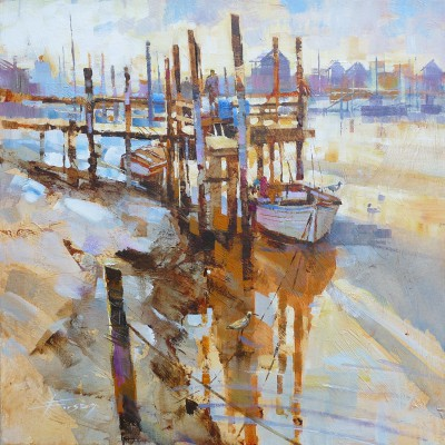 British Artist Chris FORSEY - Early One Morning, Southwold