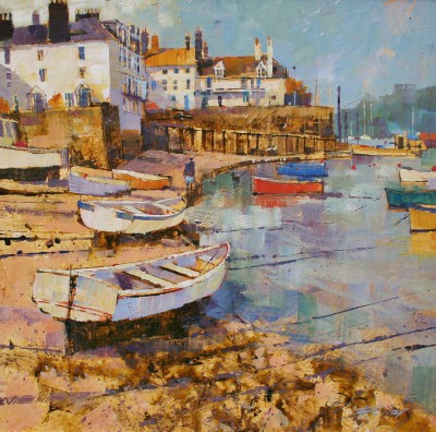 British Artist Chris FORSEY - Along the Shoreline, Dartmouth