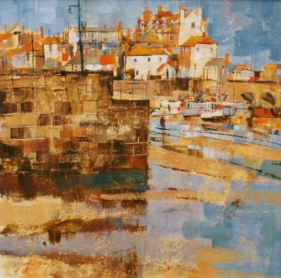 British Artist Chris FORSEY - Into the Harbour, St Ives
