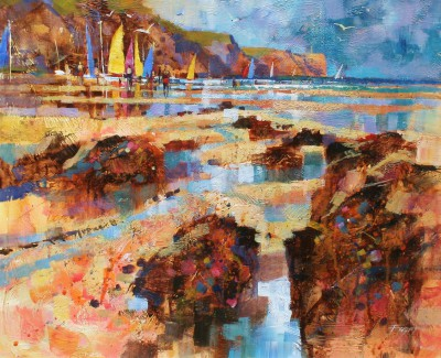 British Artist Chris FORSEY - Summer Sailing