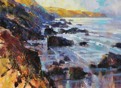 British Artist Chris FORSEY - Early Sunshine, North Cornwall