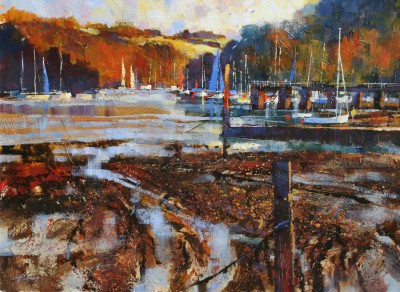 British Artist Chris FORSEY - Late Afternoon, Late Summer, Dittisham