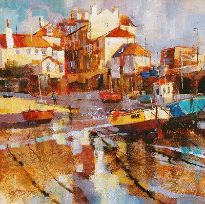 British Artist Chris FORSEY - Starting the Day, St Ives