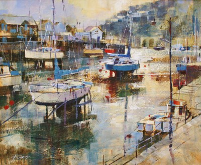 British Artist Chris FORSEY - Low Water and Early Morning Light