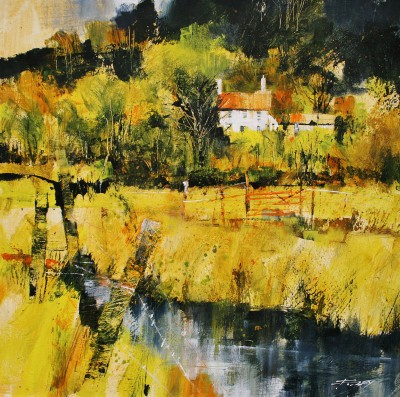 British Artist Chris FORSEY - Edge of the Watermeadow