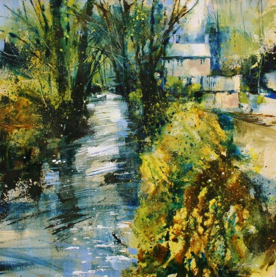 British Artist Chris FORSEY - Beside the Stream